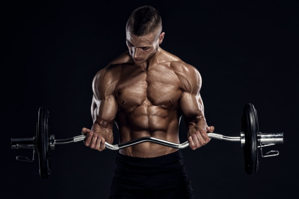 Man With High Testosterone Lifting Weights
